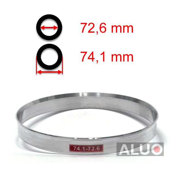 Alumiini Soviterenkaat 74,1 - 72,6 mm ( 74.1 - 72.6 )